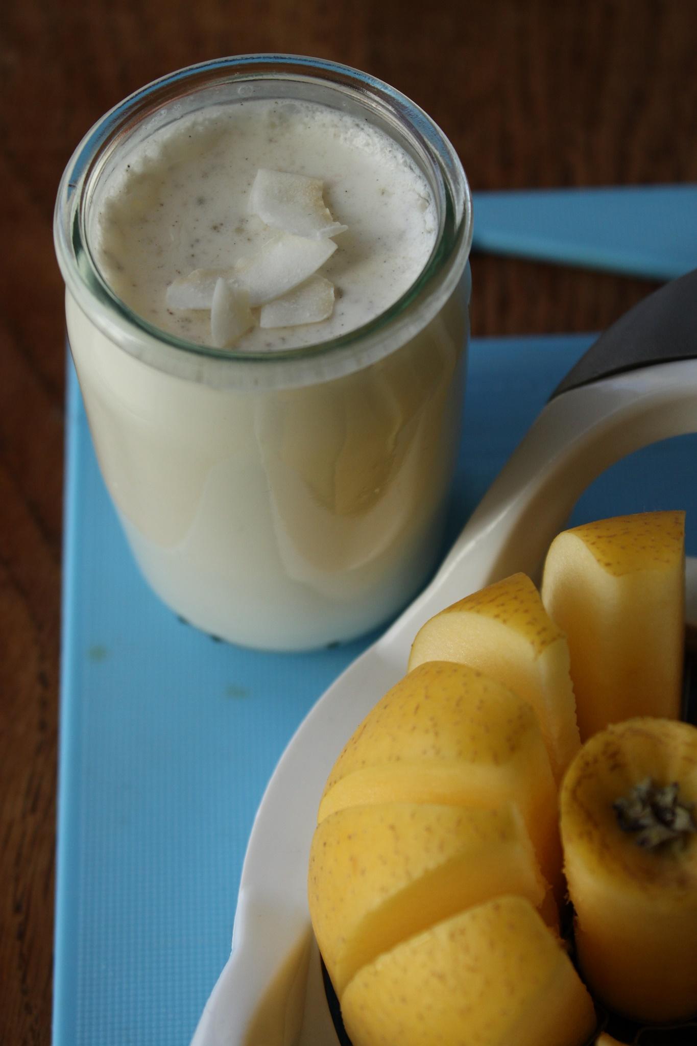 yaourt lait de coco avoine et fleur de miel. Black Bedroom Furniture Sets. Home Design Ideas