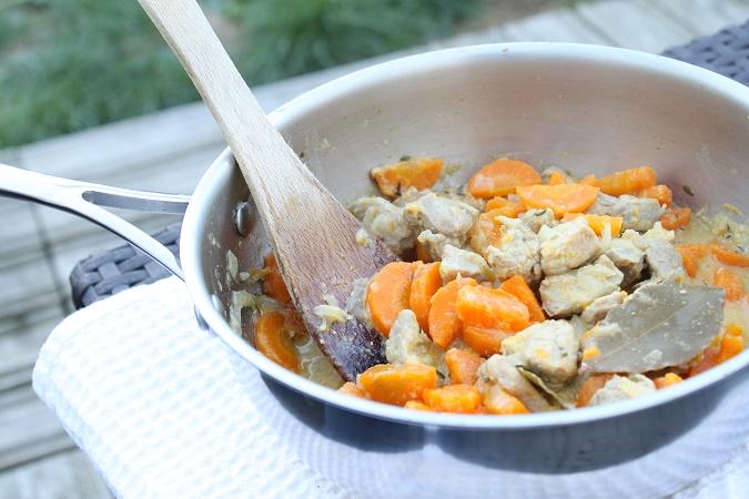 Sauté porc carotte