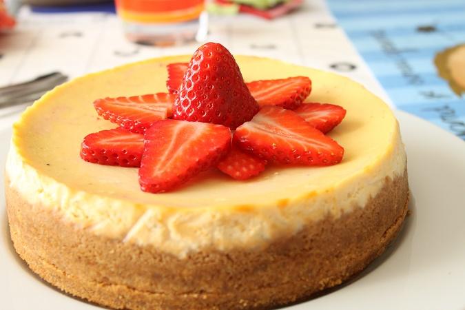 Cheesecake vanille fraise
