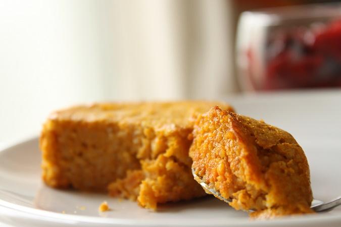 Gâteau semoule carotte cannelle