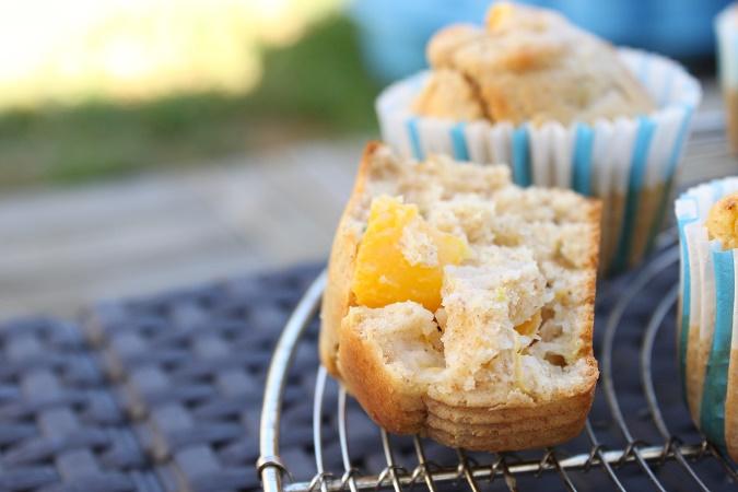 Muffin citron nectarine basilic