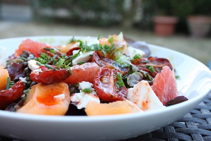 salade melon pamplemousse feta