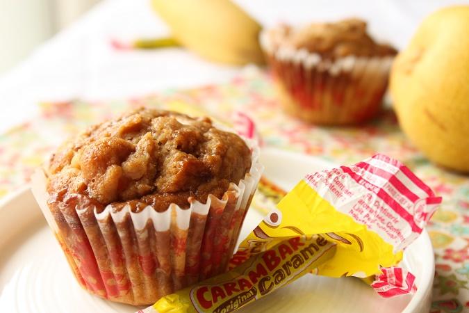 Muffin poire banane carambar