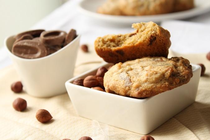 Cookie noisette chocolat blanc lait caramel