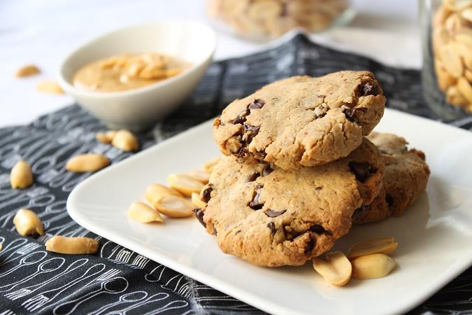 Cookies beurre de cacahuète chocolat sans oeuf