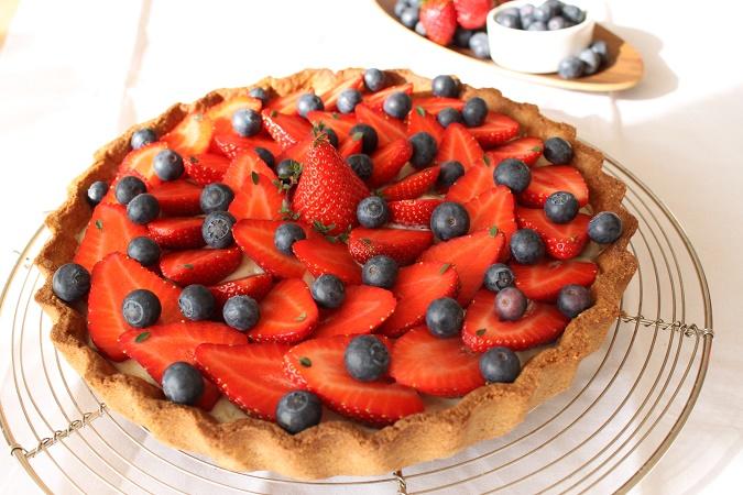 Tarte fraises myrtilles
