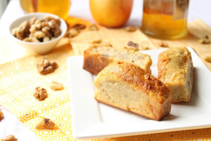 cakes aux pommes noix miel