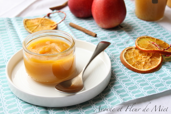 Compote pomme orange et potiron (courge butternut)