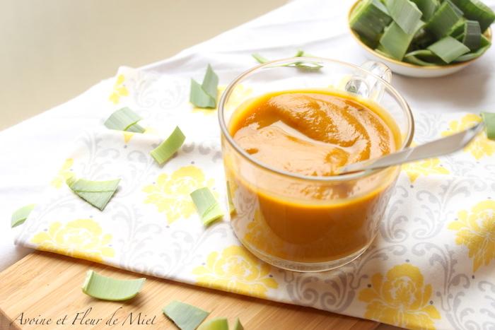 Velouté poireau carotte patate douce