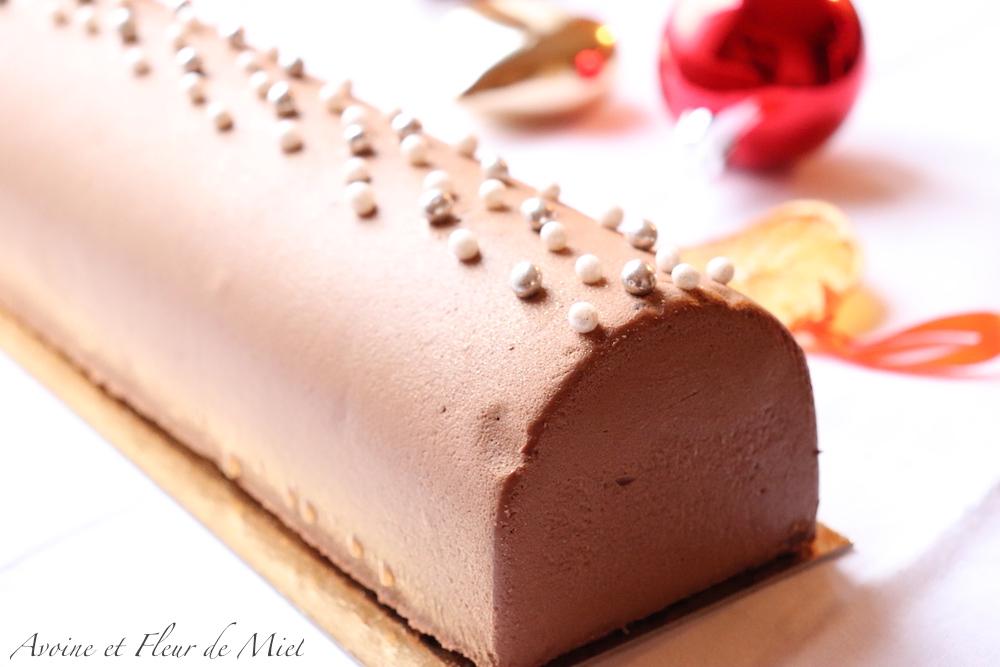 Bûche double chocolat et framboise