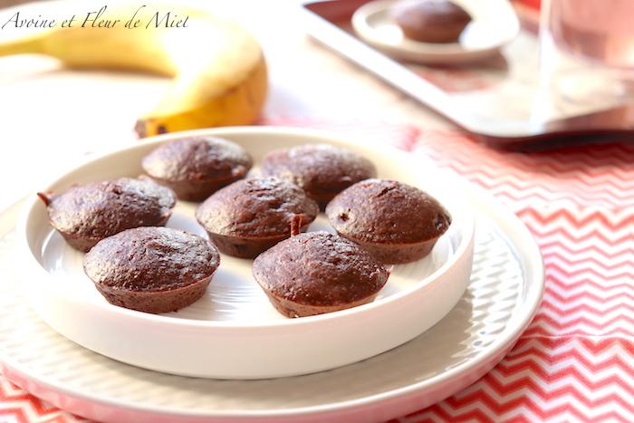 Fondants chocolat banane, sans sucre ajouté, sans beurre, sans gluten