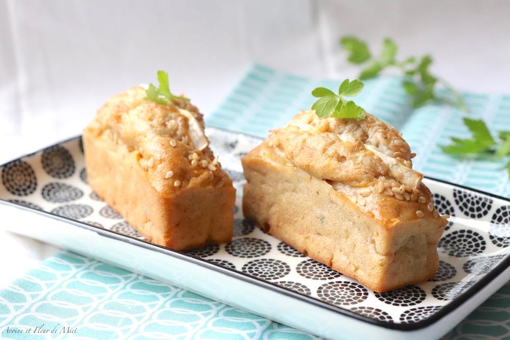 Cake salé carotte chèvre et cumin